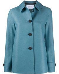 Harris Wharf London Wool Coat - Blue