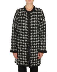 Liu Jo White/black Wool Coat