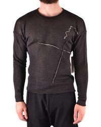 Isabel Benenato Cotton Sweater - Black