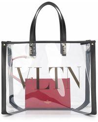 Valentino WEISSE PVC HANDTASCHE - Weiß