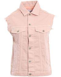 Dondup Jeans-Weste mit ungesäumten Kanten - Pink