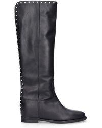 Via Roma 15 Black Leather Boots