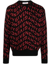 Givenchy 'Refracted' Jacquard-Pullover - Schwarz