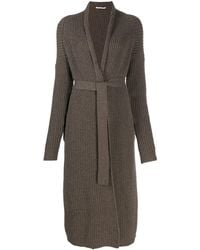 Agnona Brown Cashmere Cardigan