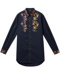 Desigual 21swcw30 Cotton Shirt - Blue