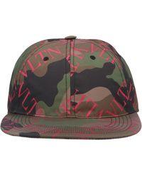 Valentino Multicolour Cotton Hat - Brown