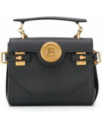 Balmain Leather Handbag - Black