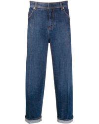 Neil Barrett Turn-up Straight-leg Jeans - Blue