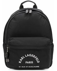 Karl Lagerfeld Men's 201w3075999 Black Polyester Backpack