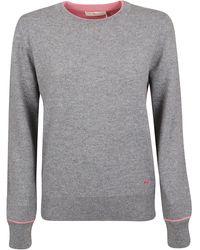 Tory Burch Grey Cashmere Jumper - Gray