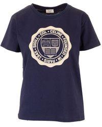 Céline Blue Cotton T-shirt