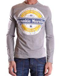 Frankie Morello Men's Mcbi125046o Gray Cotton T-shirt
