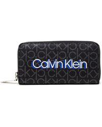 Calvin Klein Black Polyurethane Wallet