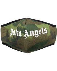 Palm Angels BAUMWOLLE MASKE - Grün