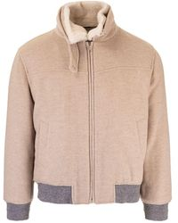 Brunello Cucinelli Cashmere Outerwear Jacket - Natural