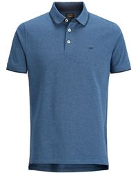 Jack & Jones Blue Cotton Polo Shirt