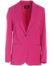 Paul Smith Cotton Blazer - Pink