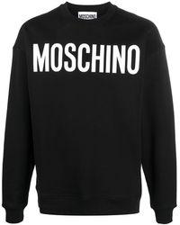 Moschino Sweatshirt mit Logo-Print - Schwarz