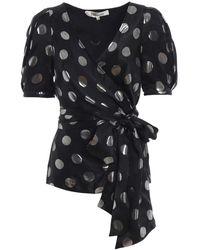 Diane von Furstenberg Silk Blouse - Black