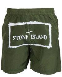 Stone Island POLYESTER BADEBOXER - Grün