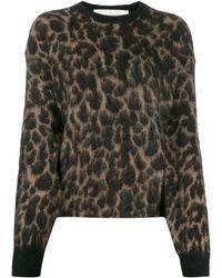 Golden Goose Deluxe Brand Leopard Print Jumper - Brown
