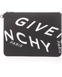 Givenchy Large Zipped Leather Pouch - Black