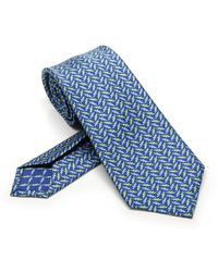 BVLGARI Blue Silk Tie