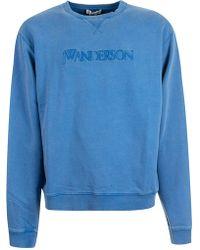 JW Anderson Blue Cotton Sweatshirt