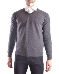 Altea Grey Wool Sweater - Gray