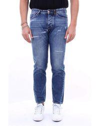 Michael Coal Mark gerade jeans mit 5 taschen - Blau