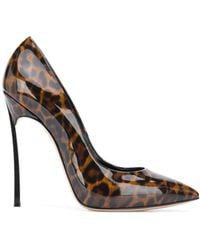Casadei Leather Court Shoes - Brown