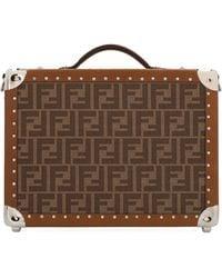 Fendi Brown Leather Travel Bag