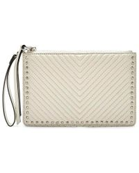 Rebecca Minkoff White Leather Clutch