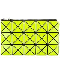 Bao Bao Issey Miyake Yellow Synthetic Fibers Wallet