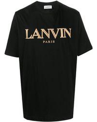 Lanvin - BAUMWOLLE T-SHIRT - Lyst