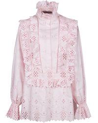 Alberta Ferretti ROSA BAUMWOLLBLUSE - Pink