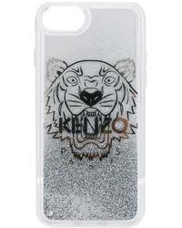 KENZO Logo Phone Case - Metallic