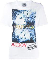 Versace - T-Shirt mit grafischem Print - Lyst