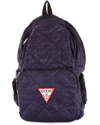 Guess Blue Polyester Backpack