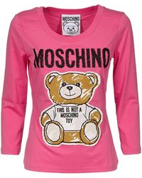 Moschino Fuchsia Cotton T-shirt - Multicolor