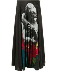 Valentino Black Silk Skirt