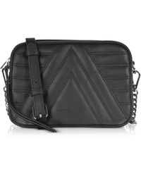 Lancaster Black Leather Shoulder Bag