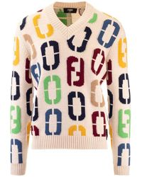 Fendi ANDERE MATERIALIEN SWEATER - Rot