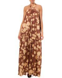 ViCOLO Brown Cotton Dress