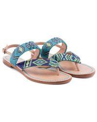 Maliparmi Malìparmi Leather Sandals - Blue