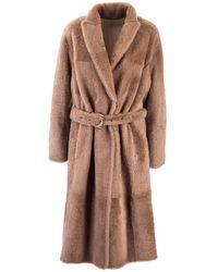 Brunello Cucinelli Brown Wool Coat
