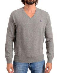Ralph Lauren Grey Wool Jumper