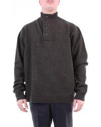 Barbour Militärgrüner pullover mit hohem kragen - Grau