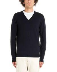 Zanone - Blue Wool Sweater - Lyst
