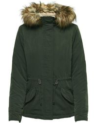 ONLY Green Polyester Coat